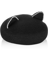 Eugenia Kim Caterina Pearl-embellished Woven Hat - Lyst