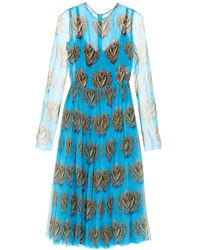 Dolce & Gabbana Sacred Heart Silk-Chiffon Dress - Lyst