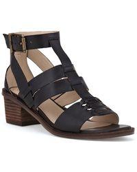 Elliott Lucca - Lena Leather Block Heel Sandals - Lyst