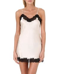 Nk Imode Lacedetailed Silk Chemise Champagne W Black Lace - Lyst