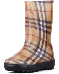 Burberry Check Rain Boot - Lyst