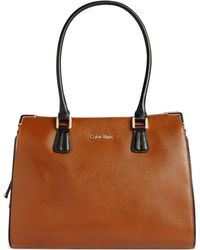 Calvin Klein On My Corner Satchel - Lyst