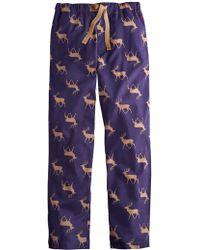 Joules - Reindeer Print Cotton Pyjamas - Lyst