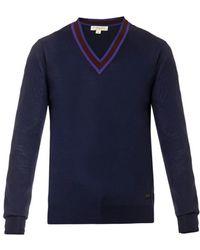 Burberry London Military Ribbon-Stripe Wool Sweater - Lyst