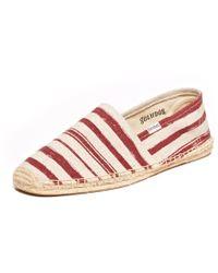 Soludos Mens Painted Stripe Original red - Lyst