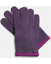 Coach Colorblock Knit Glove - Lyst