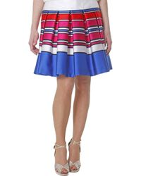 Vdp Via-Delle-Perle-Collection-Multicolor-Baiadera-Printed-Silk-Skirt - Lyst