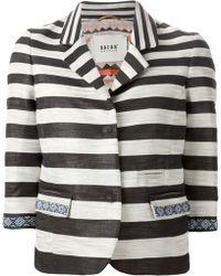 Bazar Deluxe Striped Blazer - Lyst