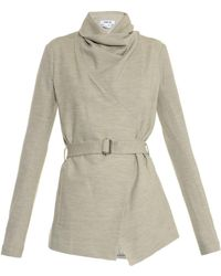 Helmut Lang Sonar Draped Wool Jacket - Lyst