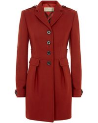 Burberry Brit Double Wool Twill Fitted Coat - Lyst