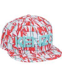 KENZO - New Era Graph Check And Palm Leaf-Print Fitted Baseball Cap - Lyst e294b8c9d0