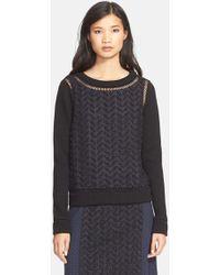 Tracy Reese - Applique Yarn Dye Sweater - Lyst