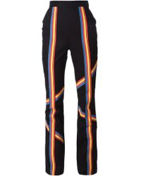 Peter Pilotto Striped Boot Cut Trousers - Lyst
