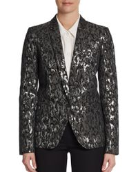 Michael Kors Metallic Brocade One-Button Jacket - Lyst