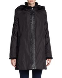 Marc New York By Andrew Marc Faux Fur Trimmed Louisa Jacket - Lyst