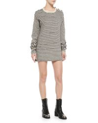Zadig & Voltaire Jada Striped Knit Short Dress - Lyst