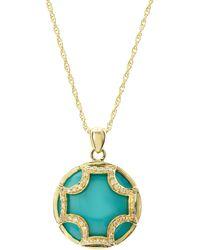 Elizabeth Showers   Turquoise Maltese Pendant   Lyst