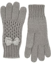 Oasis - Beaded Bow Gloves - Lyst