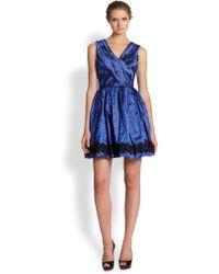 Nicole Miller Lace-Trim Party Dress - Lyst