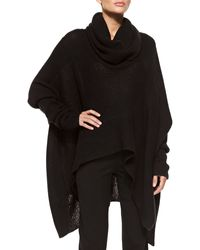Donna Karan New York Knit Cowl-neck Poncho - Lyst