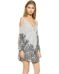 Free People Penny Lover Mini Dress - Ivory Combo - Lyst
