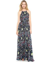 Issa Multicolor Halter Gown - Lyst