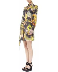 MSGM Japanese Print Silk Dress - Lyst