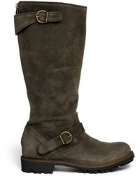 Fiorentini + Baker Jade Eternity Suede Buckle Boots - Lyst