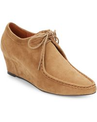 Gentle Souls Suede Wedge Ankle Boots - Lyst