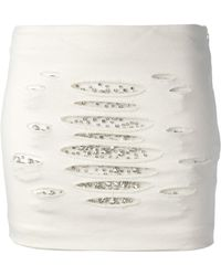 Jay Ahr Crystal Embellished Mini Skirt - Lyst