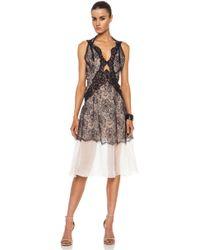 Stella McCartney Polyamideblend Lace Cut Out Dress - Lyst