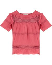 Etoile Isabel Marant Cole Ss Crop Voile Layer Top - Lyst