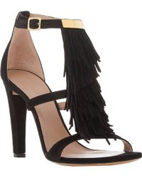 Chloé Tiered Fringe-trim Sandals - Lyst