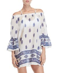 Beach Lunch Lounge - Jaipur Printed Off-the-shoulder Cover-up Dress - Lyst