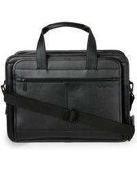 Samsonite - Leather Expandable Business Case - Lyst
