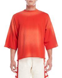 MSGM - Three-quarter Sleeve Sweatshirt - Lyst