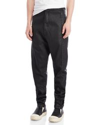 Army Of Me - Coated Drop Crotch Tapered Jeans - Lyst