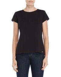 Calvin Klein - Black Embossed Logo Tee - Lyst