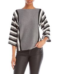 Cable & Gauge - Striped Dolman Sleeve Top - Lyst