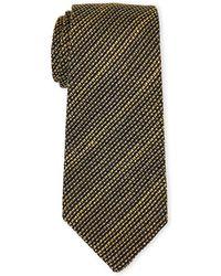 Burberry - Olive Stripe Silk Tie - Lyst