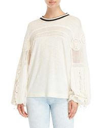 Free People - Ivory Marrakech Top - Lyst