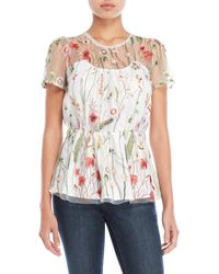 Walter Baker - Fiona Floral Embroidered Top - Lyst