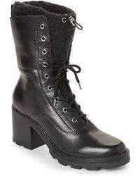 Sigerson Morrison - Gladys Leather Lace-up Boots - Lyst