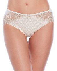 Rene Rofe - Lace Trim Bikini Briefs - Lyst