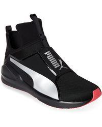 bf09589b4daa PUMA - Black   Silver Fierce Core Training Sneakers - Lyst