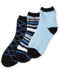 Ellen Tracy - 3-pack Cozy Socks - Lyst