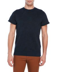 Dstrezzed - Floral Print Short Sleeve Sweatshirt - Lyst