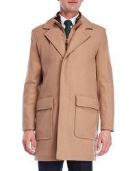 Cole Haan - Faux Fur-lined Long Wool Topper - Lyst