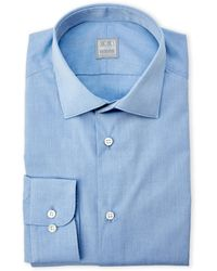 Ike Behar - Blue Brushed Dress Shirt - Lyst