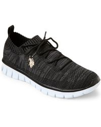 U.S. POLO ASSN. - Black Aston Space-dyed Sneakers - Lyst